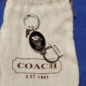 Coach turnlock valet keychain NWT